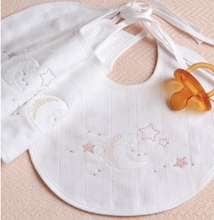 Load image into Gallery viewer, Baby Bib Round Galaxy - Pink