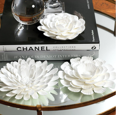 Porcelain Flower Table and Wall Decor, Assorted