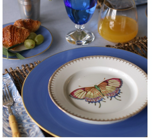 GOLDEN TEARDROP BUTTERFLY DESSERT PLATE