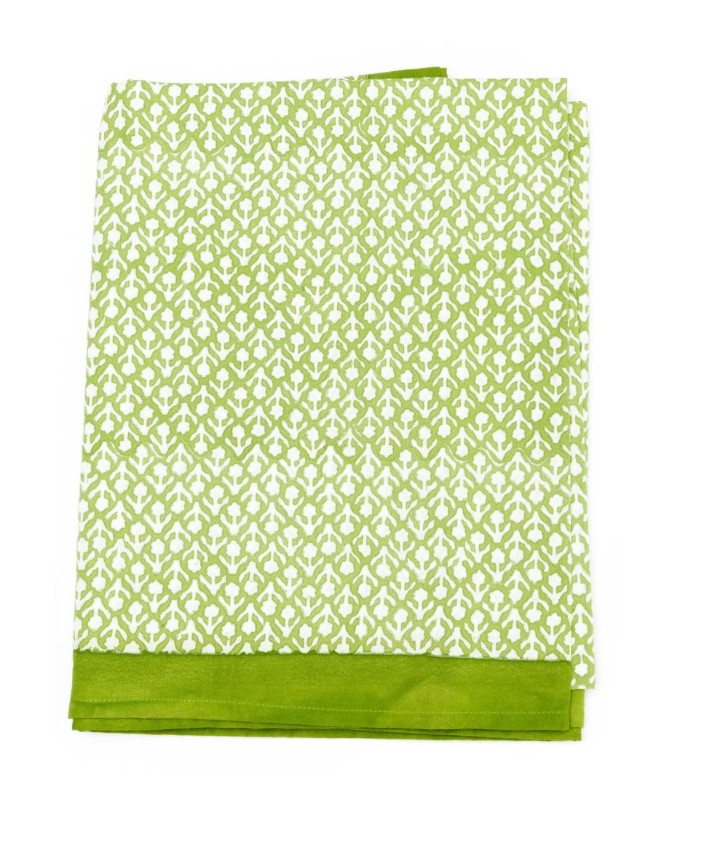 Floral Green Large Tablecloth