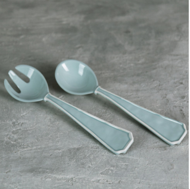 Vida- Charleston Salad Servers - Lg Blue