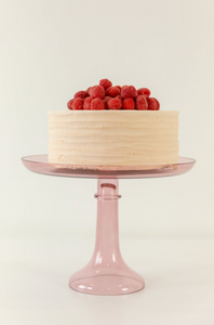 Glass Cake Stand- Rose