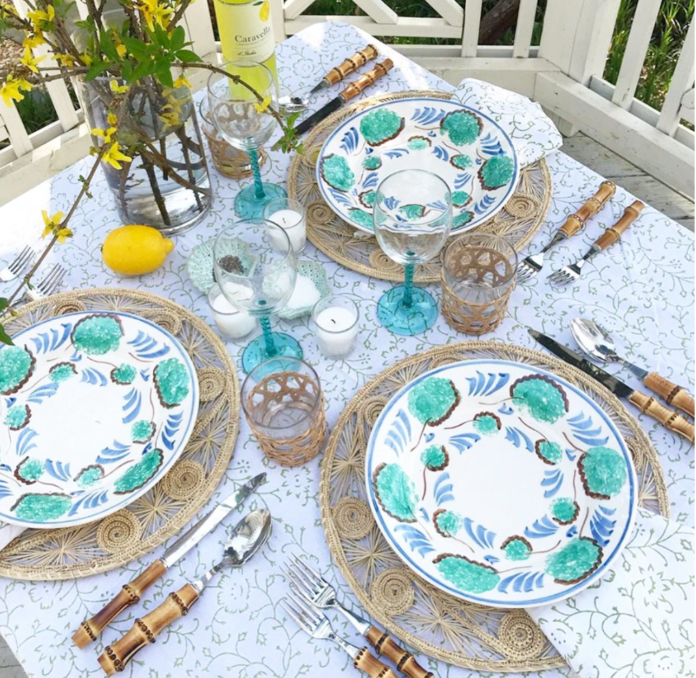 SPRING GREEN TABLECLOTH