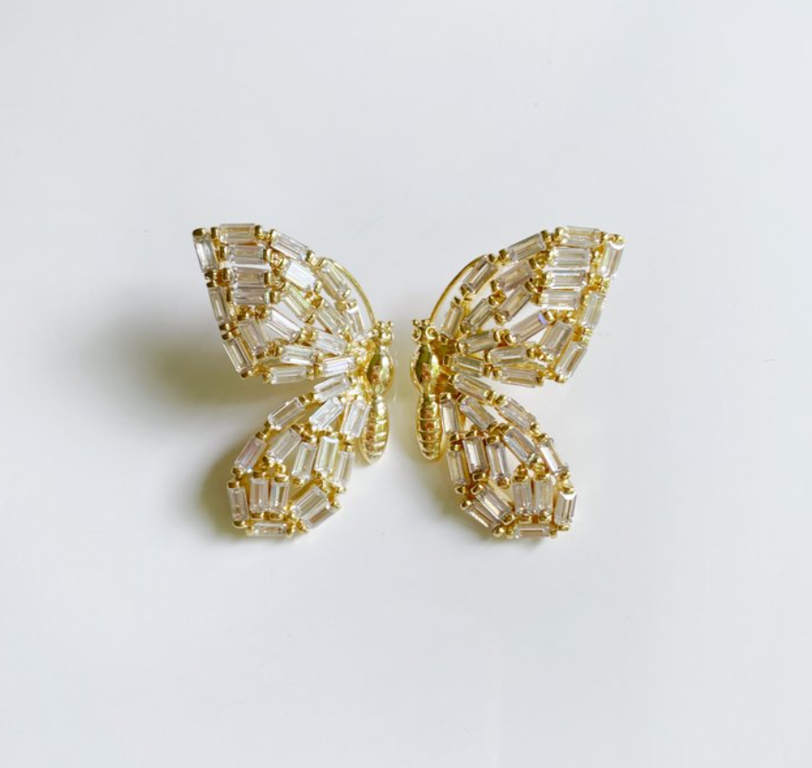 COLLECTION EARRINGS: EMBELLISHED BUTTERFLY STUDS