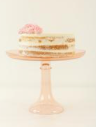 Glass Cake Stand - Blush