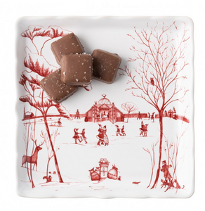 "Country Estate Winter Frolic ""Mr. & Mrs. Claus"" Ruby Sweets Tray"