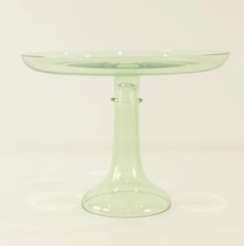 Glass Cake Stand- Mint