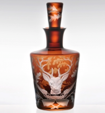 Forest Folly Stag Barware Decanter in Mahogany