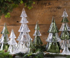 "Berry & Thread 9.5"" Stackable Clear Tree Set - Small"