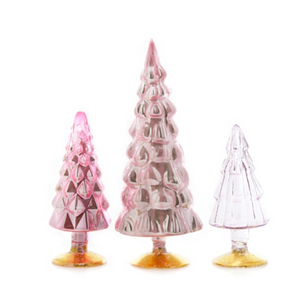 Pink Glass Trees - Assorted Sizes