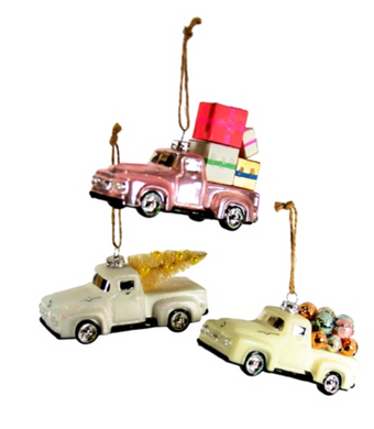 Countryside Truck Ornament - Assorted Colors