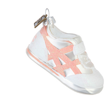 Baby's First Christmas Sneaker Ornament - Pink