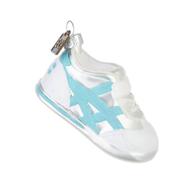Baby's First Christmas Sneaker Ornament - Blue