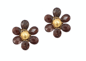 Flora Earring - Light Burgundy