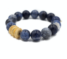 Load image into Gallery viewer, Sheldon Bracelet  Sodalite