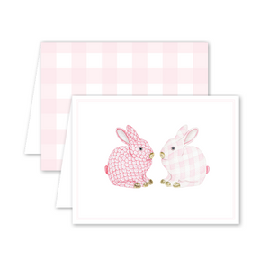 Porcelain Bunnies Pink Card