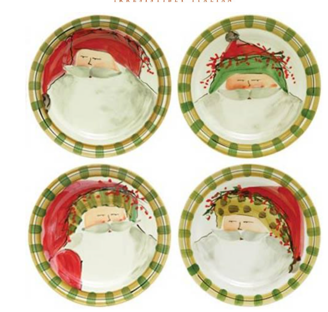 Old St. Nick Assorted Dinner Plates - Set of 4