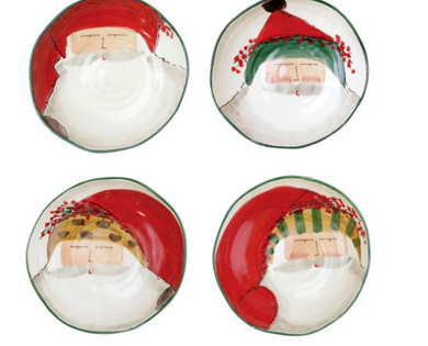 Old St. Nick Assorted Pasta Bowls - Set of 4
