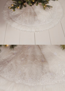 "48"" Winter Snowflake Tree Skirt"