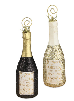 Champagne Bottle Placecard Holders, Assorted