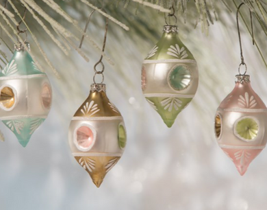 Pastel Teardrop Ornament, Assorted Colors