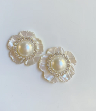 Load image into Gallery viewer, MINI MOTHER OF PEARL + EMBELLISHED CENTER STUD