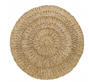 "Straw Loop Natural Placemat, 16""w"