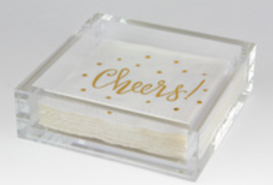 Lucite Cocktail Napkin Tray