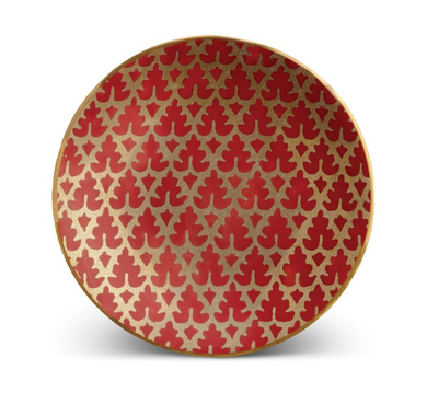 Fortuny Murillo Red-Set of 4 Canape Plates