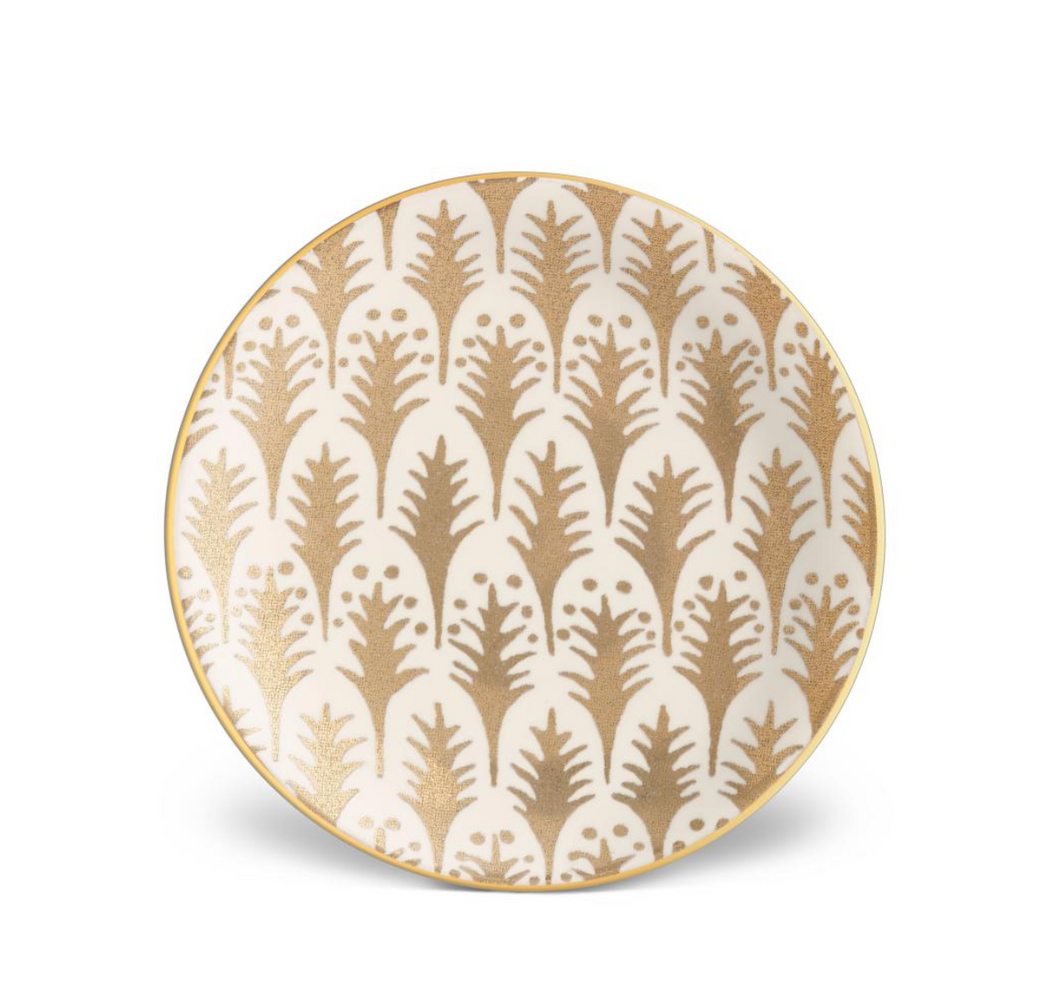 Fortuny Piumette White-Set of 4 Canape Plates