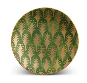 Fortuny Piumette Green-Set of 4 Canape Plates
