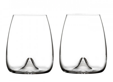 Elegance Stemless Wine 17.6 oz Set/2