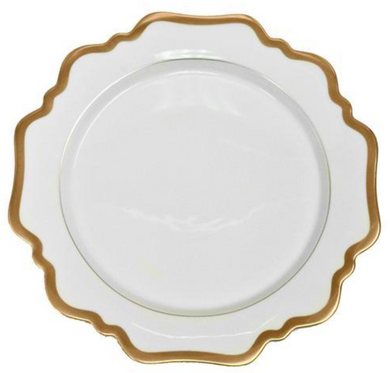 Antique White W/ Gold