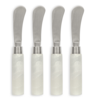 White Marble Cheese Spreaders-Set of 4