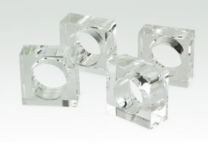 Clear Napkin Ring Holder-Set of 4