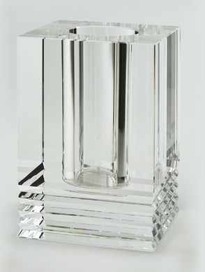 Crystal Glass Vase with Cut-Large