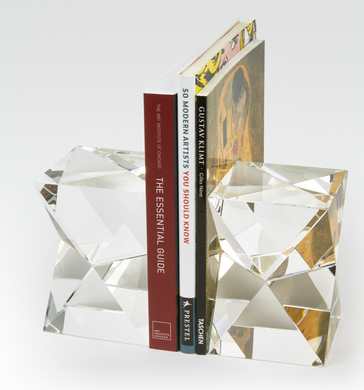 Diamond Cut Bookend Pair