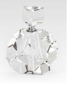 Crystal Perfume Bottle Diamond Cut