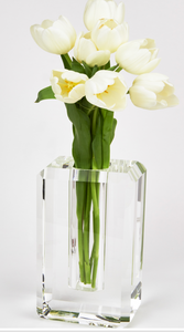 Crystal Glass Vase Hex Edge -Large