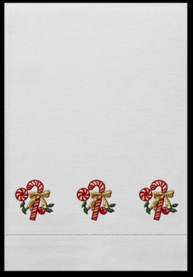 Candy Cane Guest Towels