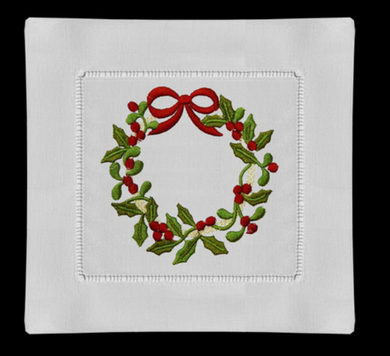 Christmas Wreath Coaster Napkins