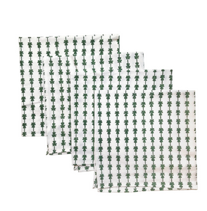 Green Clover Dinner Napkins-Set of 4