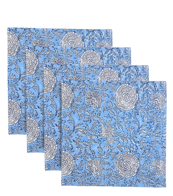 Blue Bell Dinner Napkins-Set of 4