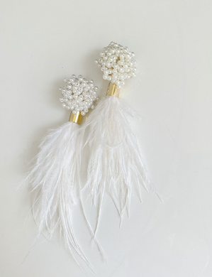 Pearl Cluster and White Feathers