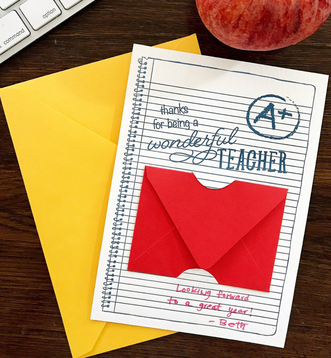 Teacher Gift Card Card