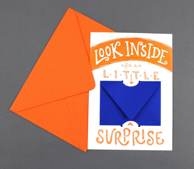 Look Inside Surprise Gift Card