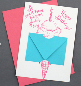 Happy Birthday Ice Cream Gift Card