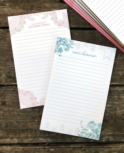 Get Done Today Painted Edge Notepads -Pink