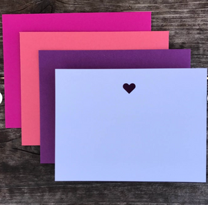 Laser Heart Note Cards