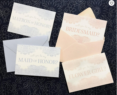 Will You Be My Maid of Honor Card- Pink